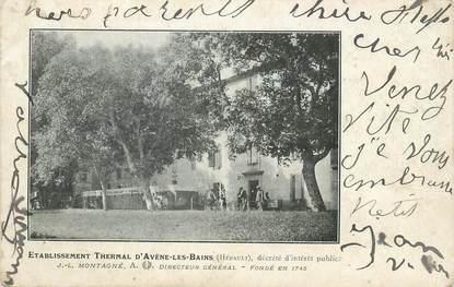 """CPA FRANCE 34 """" Avène les Bains, L'établissement thermal""""."""