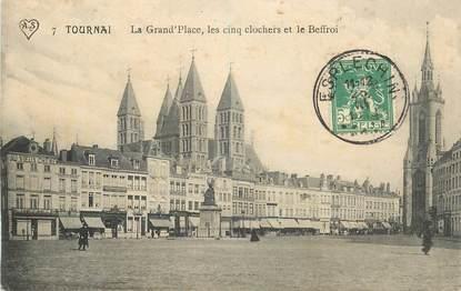 """CPA BELGIQUE """"Tournai, la Grand'Place"""""""