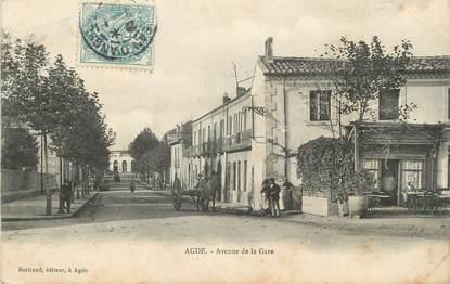 """CPA FRANCE 34 """" Agde, Avenue de la gare""""."""