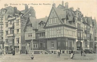 """CPA BELGIQUE """"Westende, la digue et l'avenue des Mouettes"""""""