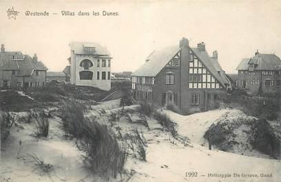 """CPA BELGIQUE """"Westende, villas dans les dunes"""""""