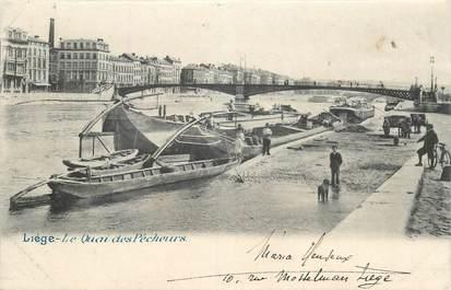 """CPA BELGIQUE """"Liège, le quai des pêcheurs"""""""