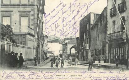 "CPA FRANCE 34 "" Marseillan, Grande rue ""."