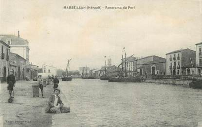 "CPA FRANCE 34 "" Marseillan, Panorama du port""."