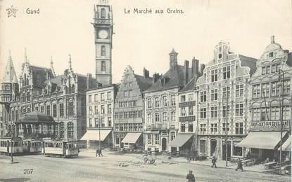 """CPA BELGIQUE """"Gand, le marché aux grains"""""""