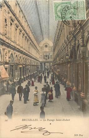 """CPA BELGIQUE """"Bruxelles, le passage Saint Hubert"""""""