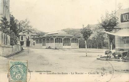 """CPA FRANCE 34 """" Lamalou les Bains, Le marché""""."""