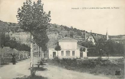 """CPA FRANCE 34 """" Lamalou les Bains, La Poste""""."""