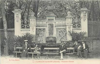 """CPA FRANCE 34 """" Lamalou les Bains, Fontaine Charcot""""."""