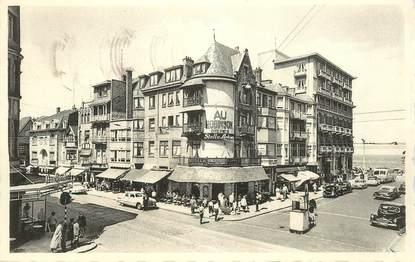 """CPA BELGIQUE """"La Panne, avenue de la mer et avenue de Dunkerque"""""""