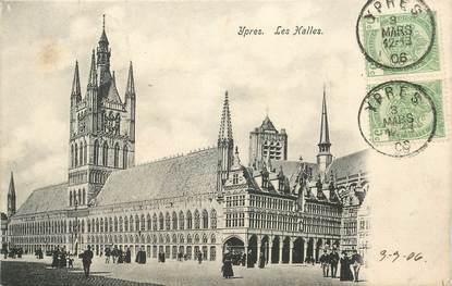 """CPA BELGIQUE """"Ypres, les Halles"""""""