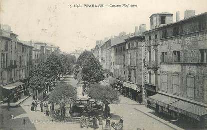 """CPA FRANCE 34 """" Pézénas, Cours Molière""""."""