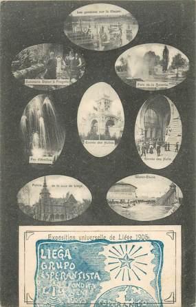 "CPA BELGIQUE ""Exposition universelle de Liège 1905"" / ESPERANTO"