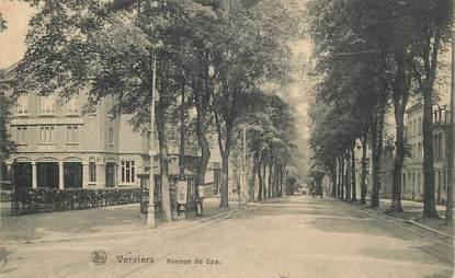 """CPA BELGIQUE """"Verviers, avenue de Spa"""""""