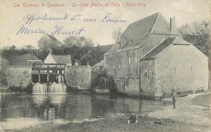 """CPA BELGIQUE """"Les environs de Beaumont, le vieux Moulin de Solre, Saint Géry"""""""