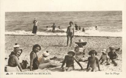 """CPA FRANCE 34 """" Frontignan les Muscats, sur la plage""""."""