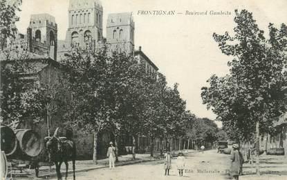 "CPA FRANCE 34 "" Frontignan, Boulevard Gambetta""."