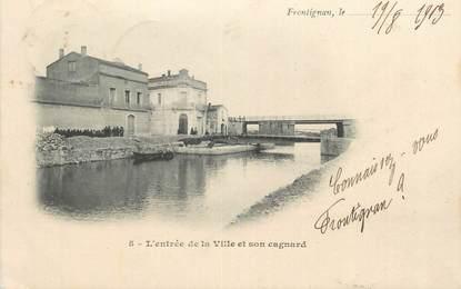 """CPA FRANCE 34 """" Frontignan, L'entrée de la ville et son cagnard""""."""