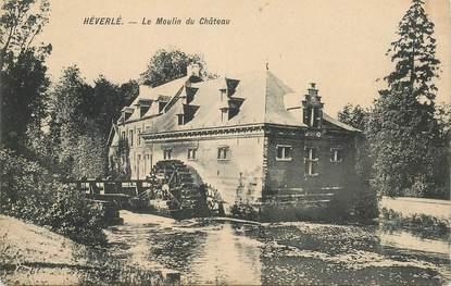 """CPA BELGIQUE """"Héverlé, le moulin du Chateau"""""""