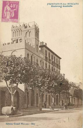 "CPA FRANCE 34 "" Frontignan Les Muscats, Boulevard Gambetta""."