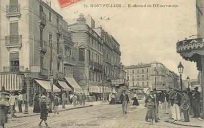 """CPA FRANCE 34 """" Montpellier, Boulevard de l'Observatoire""""."""