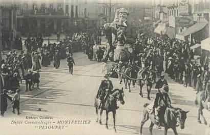 """CPA FRANCE 34 """" Montpellier, Le carnaval, Le défilé de Petounet""""."""