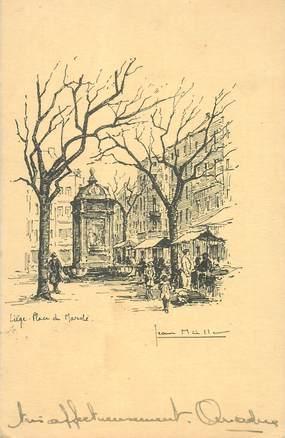 """CPA BELGIQUE """"Liège, Place du Marché"""""""