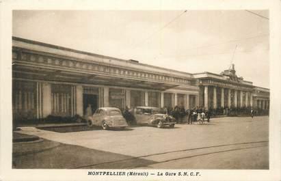 "CPA FRANCE 34 "" Montpellier, La gare SNCF""'."