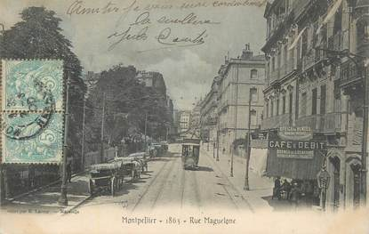 """CPA FRANCE 34 """" Montpellier, Rue Maguelone""""."""