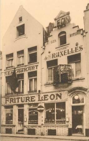 """CPA BELGIQUE """"Bruxelles, Restaurant Léon"""""""