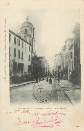 "CPA FRANCE 34 "" Bédarieux, Rue St Alexandre""."