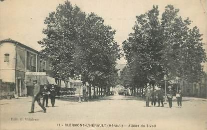 "CPA FRANCE 34 "" Clermont L'Hérault, Allée de Tivoli""."