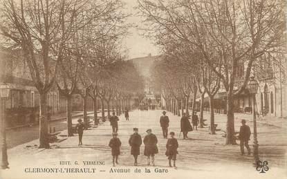 """CPA FRANCE 34 """" Clermont L'Hérault, Avenue de la gare""""."""
