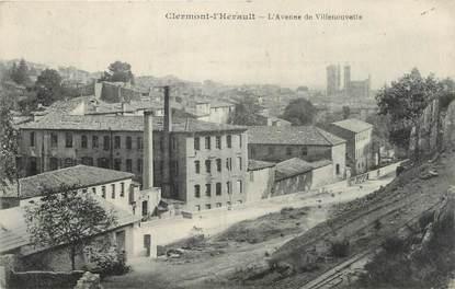 """CPA FRANCE 34 """" Clermont L'Hérault, Avenue de Villeneuvette""""."""