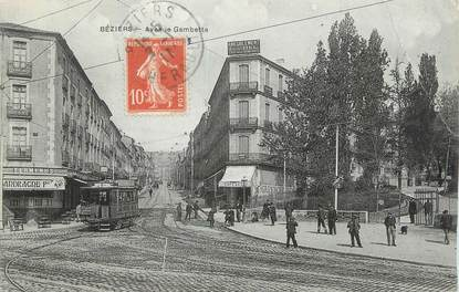 "CPA FRANCE 34 "" Béziers, Avenue Gambetta""."