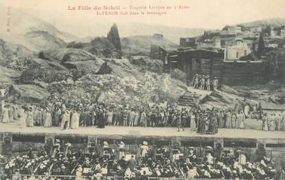 """CPA FRANCE 34 """" Béziers, La fille du soleil, tragédie lyrique en 3 actes, Elpenor fuit dans la montagne"""". / THEATRE"""