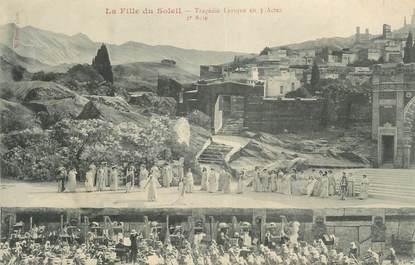 """CPA FRANCE 34 """" Béziers, La fille du soleil, tragédie lyrique en 3 actes, 2ème acte"""". / THEATRE"""