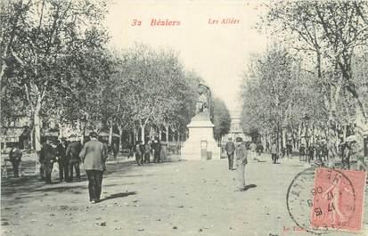 """CPA FRANCE 34 """" Béziers, Les allées""""."""