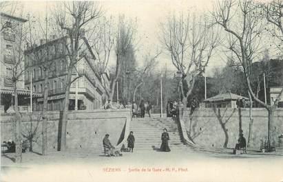 "CPA FRANCE 34 "" Béziers, Sortie de la gare""."