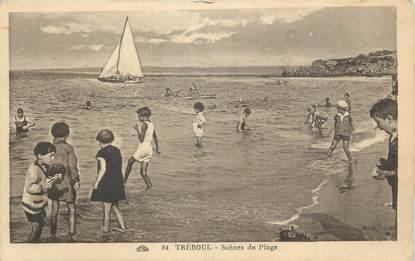 """CPA FRANCE 29 """" Tréboul, Scènes de plage"""""""
