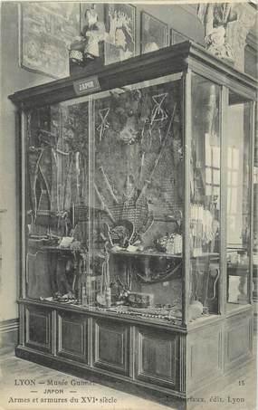 """CPA FRANCE 69 """" Lyon, Musée Guimet armes et armures"""". / SAMOURAI"""