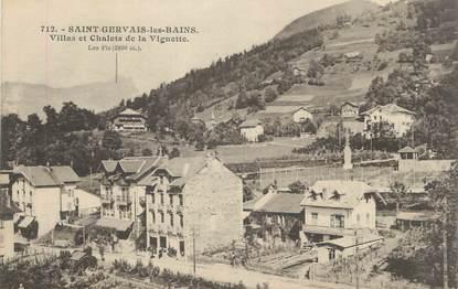 """CPA FRANCE 74 """" St Gervais Les Bains, Villas et chalets de la Vignette""""."""