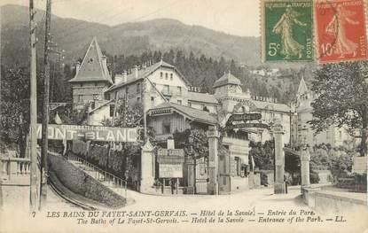 """CPA FRANCE 74 """" Les Bains du Fayet - St Gervais Les Bains, Hôtel de Savoie""""."""