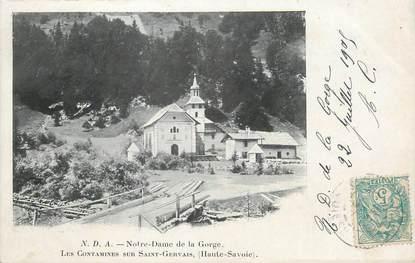 """CPA FRANCE 74 """" Les Contamines sur St Gervais, Notre Dame de la Gorge""""."""
