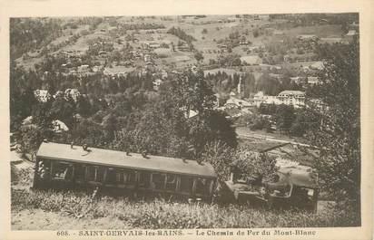 """CPA FRANCE 74 """" St Gervais les Bains, Le chemin de fer du Mont Blanc"""". / TRAIN"""