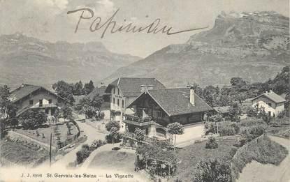 """CPA FRANCE 74 """" St Gervais Les Bains, La Vignette""""."""