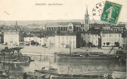 "CPA FRANCE 42 ""Roanne, quai du bassin"""