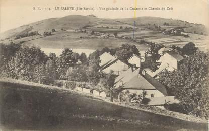 """CPA FRANCE 74 """" Le Salève, Vue générale de la Croisette et Chemin du Crêt""""."""