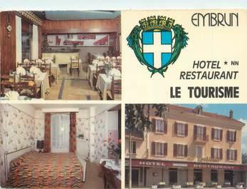 """CPSM FRANCE 05 """" Embrun, Hôtel Restaurant Le Tourisme""""."""