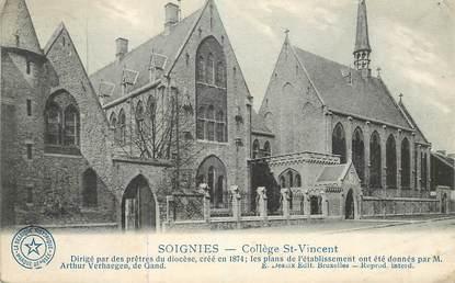 """CPA BELGIQUE """"Soignies, collège Saint Vincent"""""""